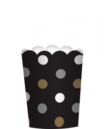 Black Mini Scalloped Food Cups