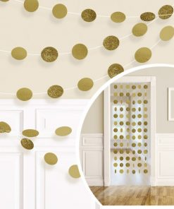 Gold Glitter Hanging String Decorations