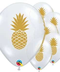 Golden Pineapple Printed Latex Balloon