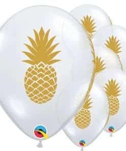 Golden Pineapple Printed Latex Balloon