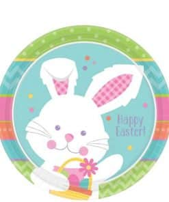 Hippy Hop Easter Bunny Paper Plates