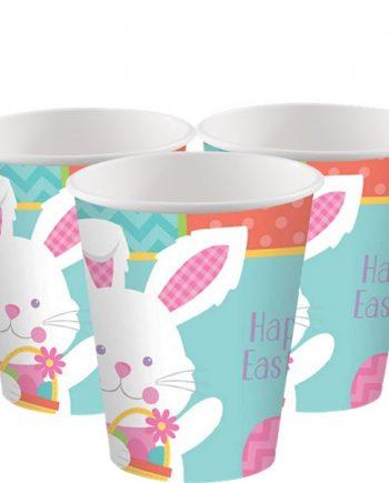 Hippy Hop Easter Bunny Paper Cups