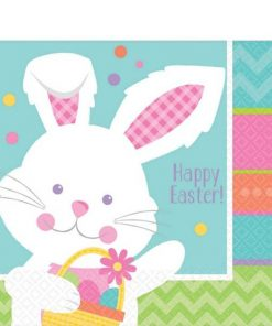 Hippy Hop Easter Bunny Paper Napkins