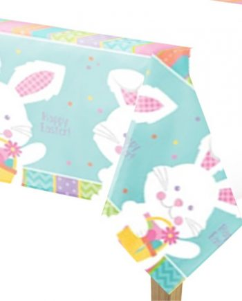 Hippy Hop Easter Bunny Plastic Tablecover
