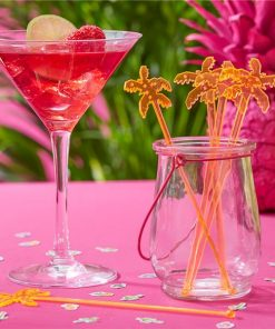 Hot Summer Party Palm Tree Drink Stirrers