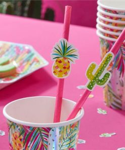 Hot Summer Party Paper Straws