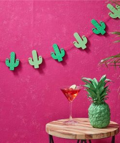 Hot Summer Party Wooden Cactus Bunting