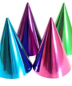 Jewel Tone Metallic Cone Party Hats