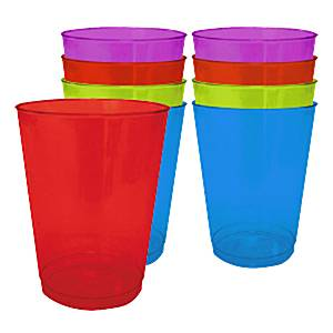 Multi-coloured Plastic Tumbler Glasses