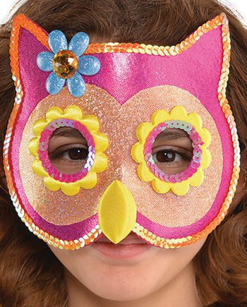 Owl Sequin Masks