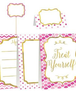 Pink Buffet Decorating Kit