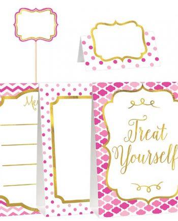 Pink Buffet Decorating Kit