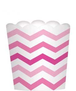 Pink Large Scalloped Food Container