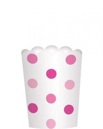 Pink Mini Scalloped Food Cups