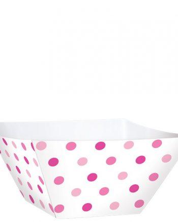 Pink Mini Square Bowls