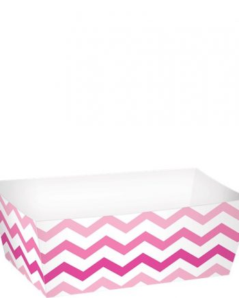 Pink Rectangle Food Trays