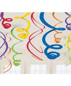 Rainbow Hanging Swirls Decorations