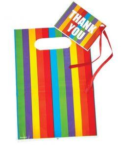 Rainbow Stripe Loot Bags & Tags