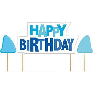 Shark Splash Party Pick Birthday Candles