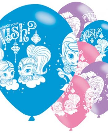 Shimmer & Shine Party Printed Latex Balloons