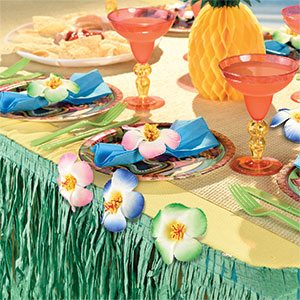 Summer Hibiscus Table Cover Clips