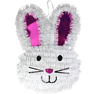Tinsel Easter Bunny Decoration
