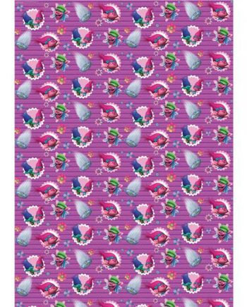 Trolls Party Wrapping Paper Roll
