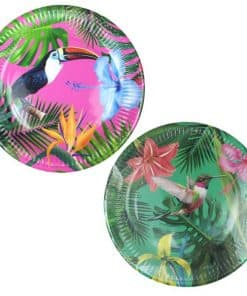 Tropical Fiesta Party Bright Paper Plates