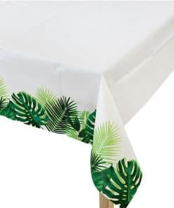 Tropical Fiesta Party Palm Paper Tablecover
