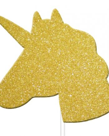 Unicorn Gold Glitter Cake Topper