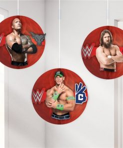 WWE Wrestling Party Honeycomb Hanging Decorations