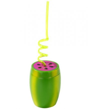 Watermelon Plastic Novelty Cup with Straw