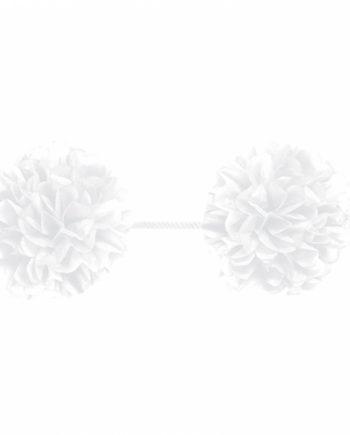 White Pom Pom Garland Decoration