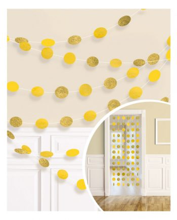 Yellow Glitter Hanging String Decorations