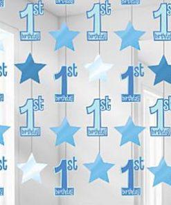 1st Birthday Blue String Decoration