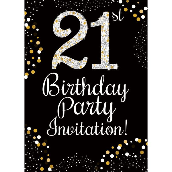 21st birthday gold invitation cards fun party supplies