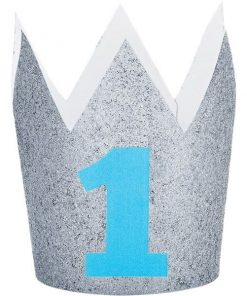 Age 1 Silver Glitter Mini Crown