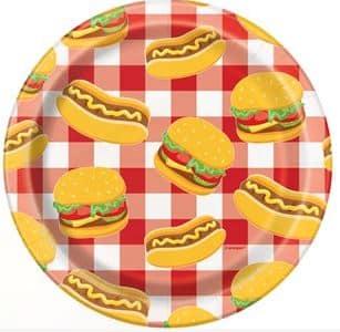 Burger Paper Plates