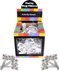 Bulk Pocket Money Toys - Butterfly Hairpin