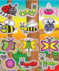Bulk Pocket Money Toys - Bugs & Insect Creatures Stickers