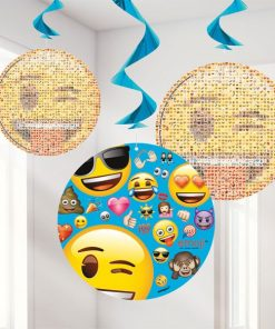Emoji Party Hanging Swirl Decorations