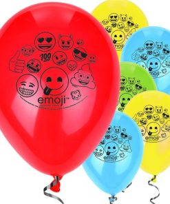Emoji Printed Latex Balloons