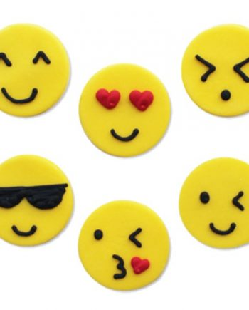 Emoji Sugar Cake Decorations Toppers