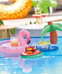 Flamingo & Palm Tree Inflatable Drink Holders