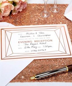 Geo Blush Wedding Evening Invitation Cards
