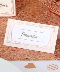 Geo Blush Wedding Place Cards
