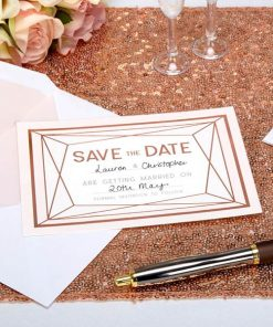 Geo Blush Wedding ''Save The Date'' Cards