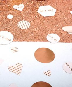 Geo Blush Wedding TableScatter Confetti