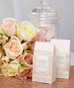 Geo Blush Wedding Tissue Confetti