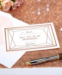 Geo Blush Wedding 'Will You Be My Bridesmaid' Cards